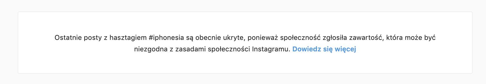hasztagi instagram zbanowane hashtagi iphonesia