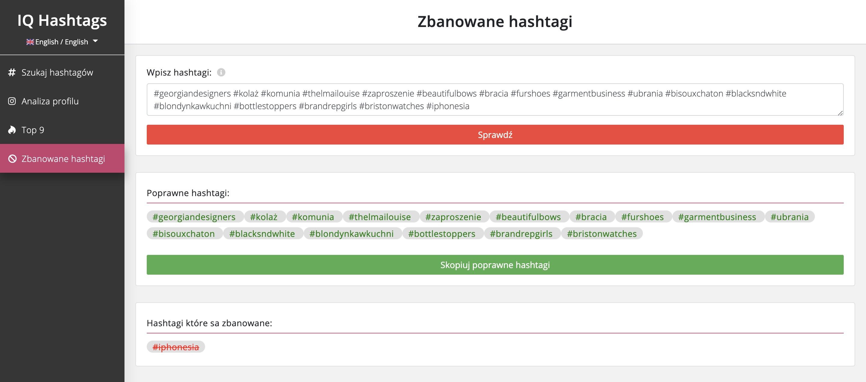 aplikacja do hashtagów zbanowane hashtagi instagram