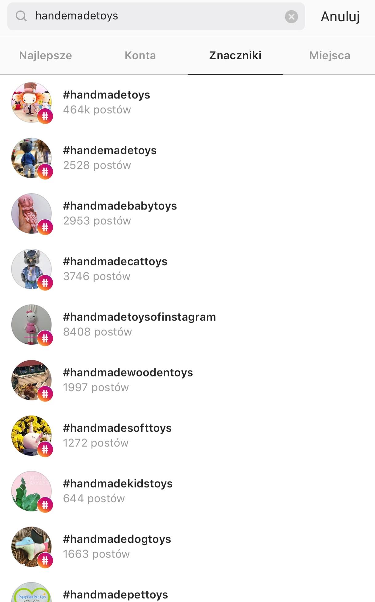 podobne hashtagi instagram