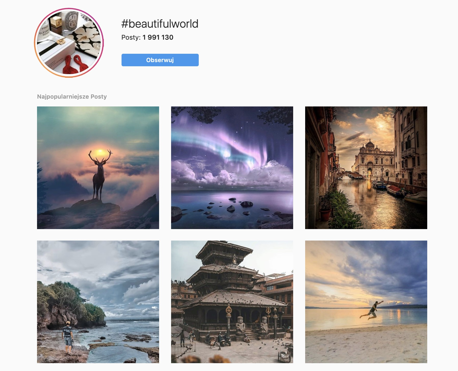 popularne hashtagi na instagramie duże hashtagi