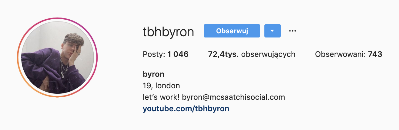 byron denton instagram followers