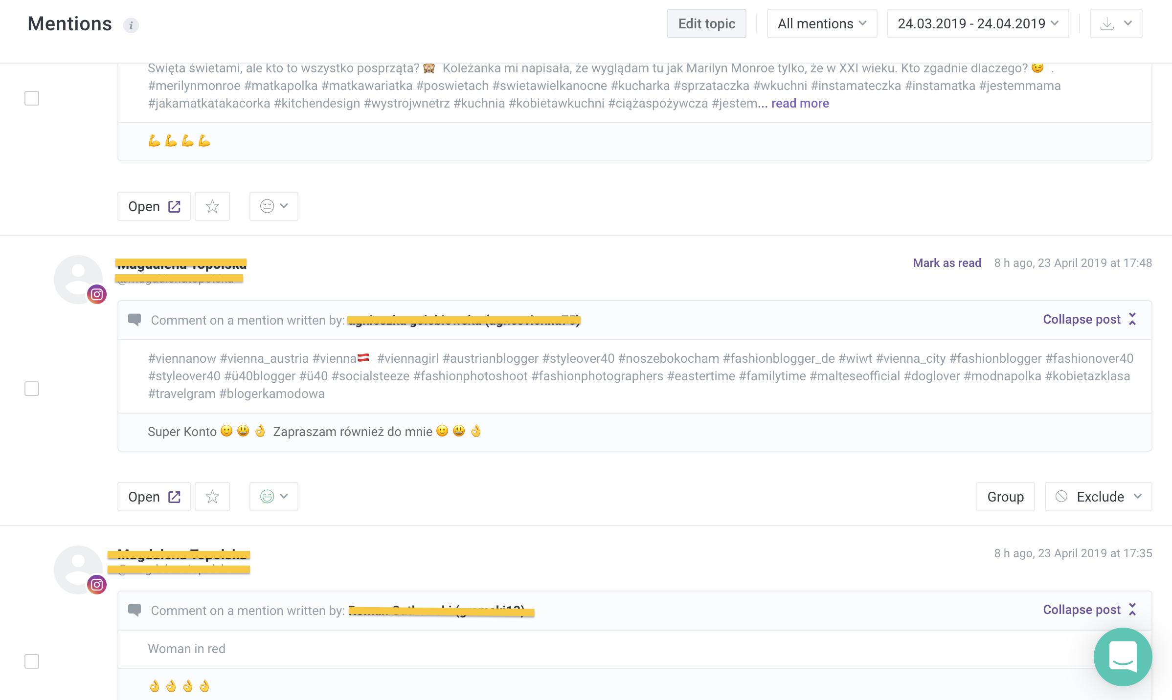 boty na instagramie jak rozpoznać komentarze w social media monitoring