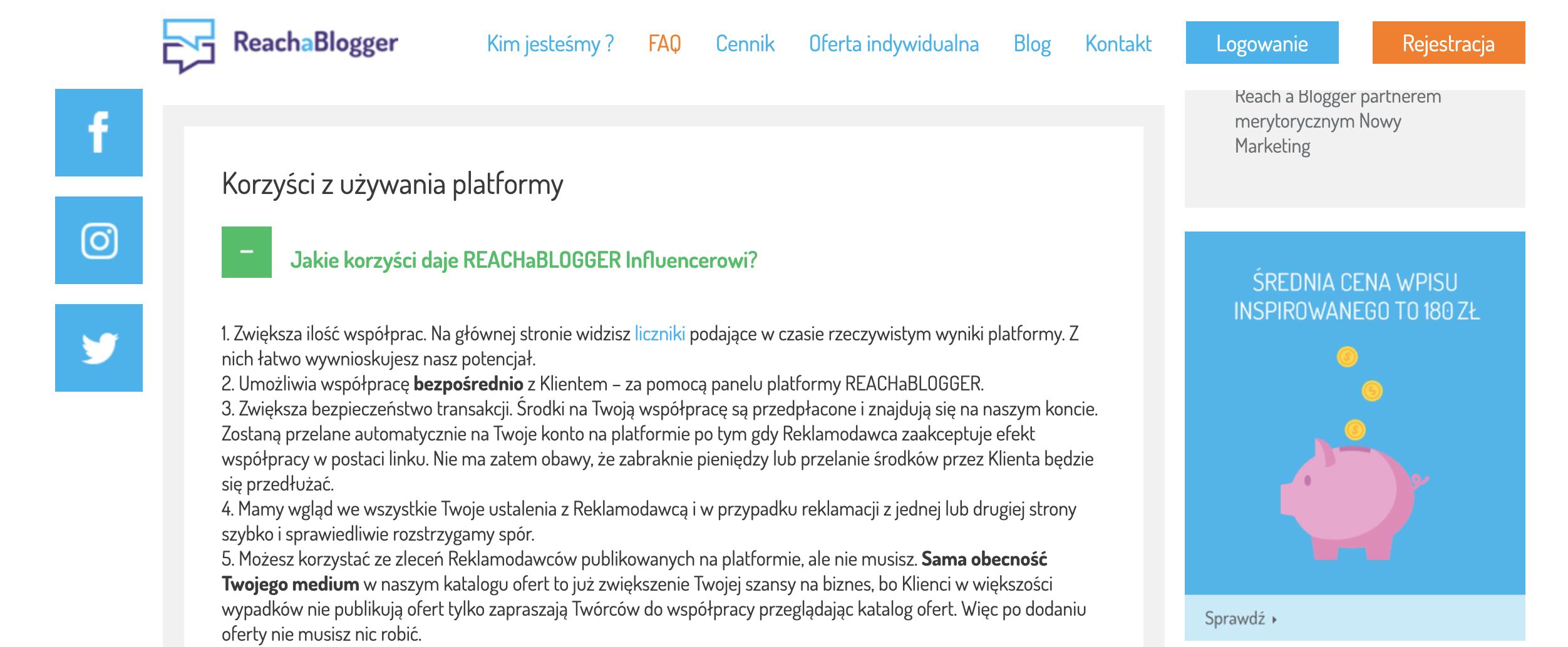 reachablogger platforma współpracy z blogerami