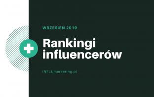 Ranking Influencerów Wrzesień 2019