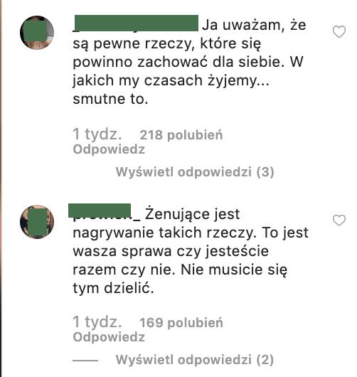 wydźwięk komentarzy na instagramie