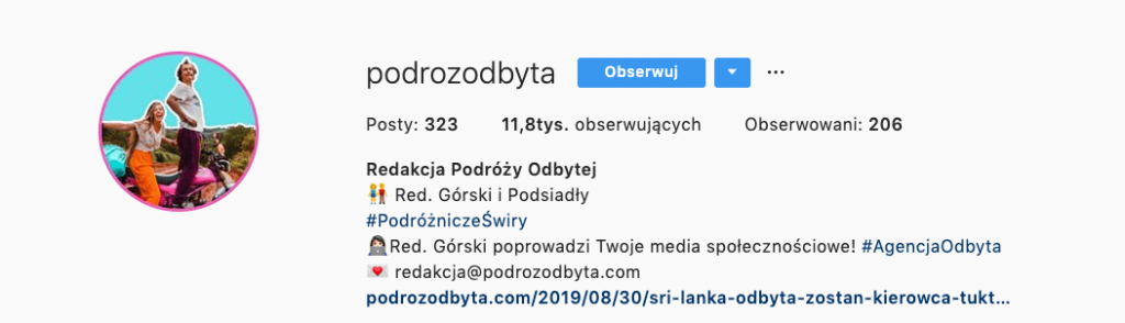 podrozodbyta link bio instagram