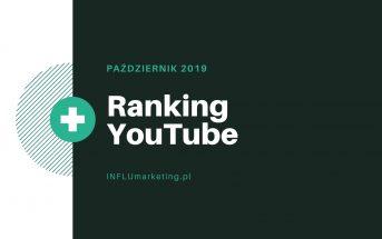 rankign youtube polska 2019 październik