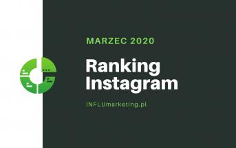 Ranking Instagram 2020 Marzec front