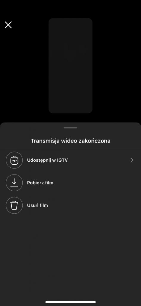 instagram live na żywo