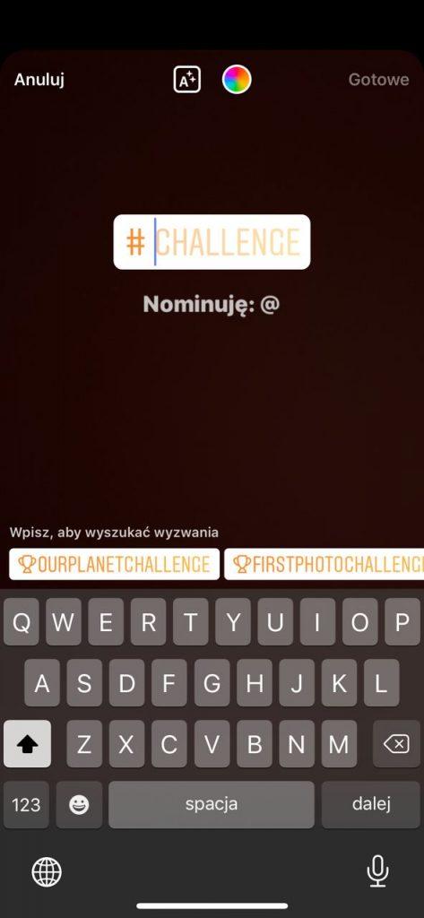 challenge instagram wyzwanie