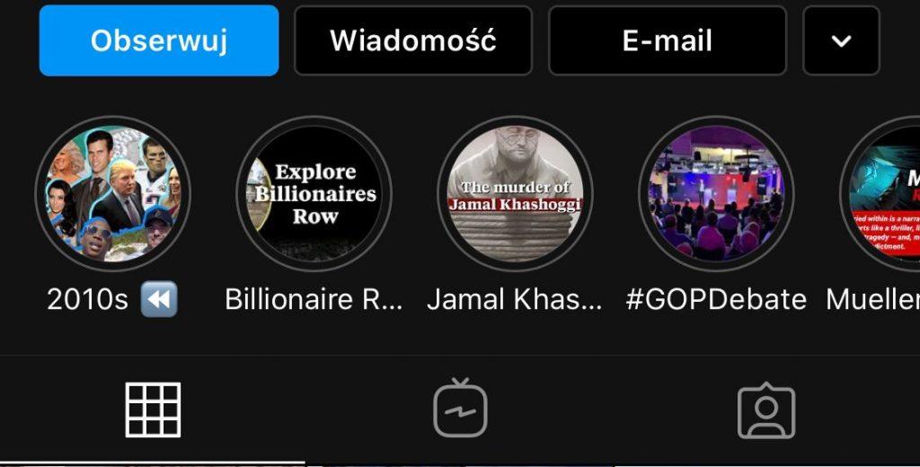 instagram stories highlights wyróżnione relacje