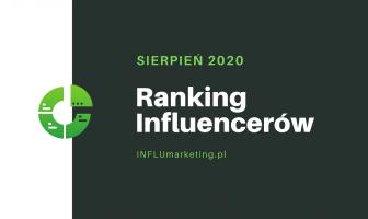 ranking influencerów polska 2020 sierpień cover photo