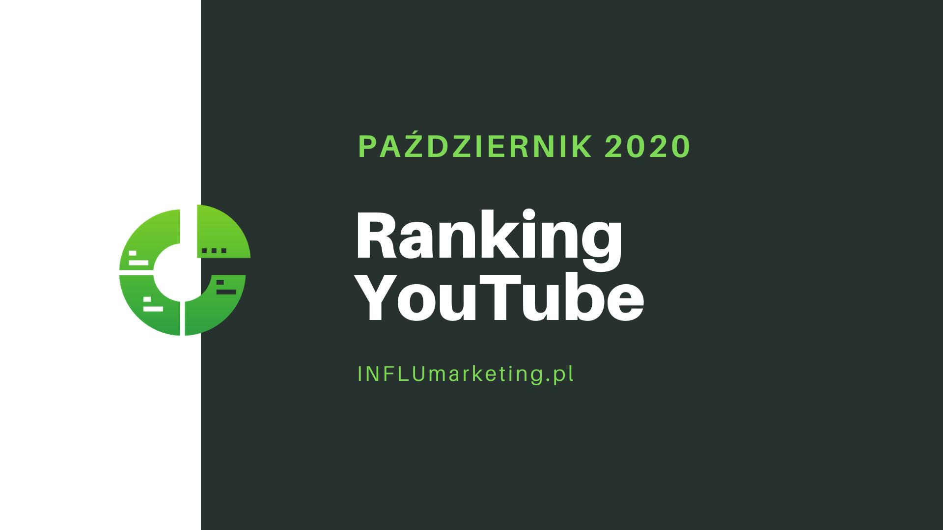 RANKING TOP 10 YOUTUBE Polska październik 2020 cover photo