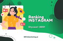 Ranking Instagram Polska Styczeń 2021