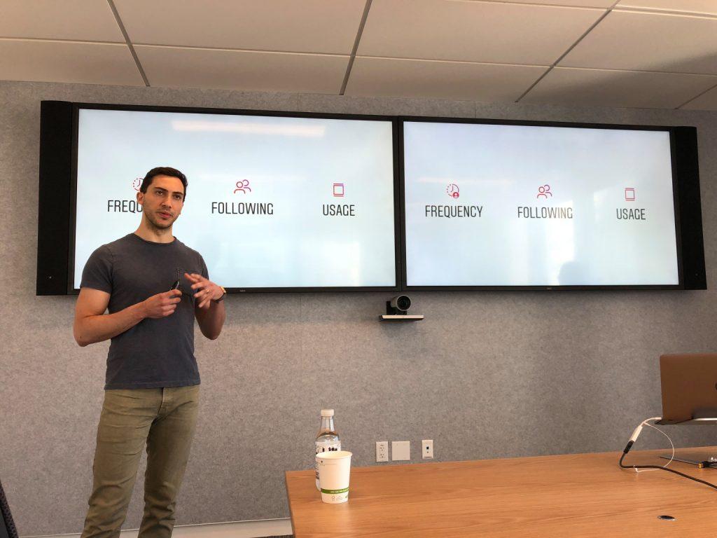 spotkanie dla dziennikarzy z Julianem Gutmanem (Project Lead of Instagram), podczas którego ujawniono, w jaki sposób działa ranking (algorytm) postów, które widzimy w Aktualnościach.