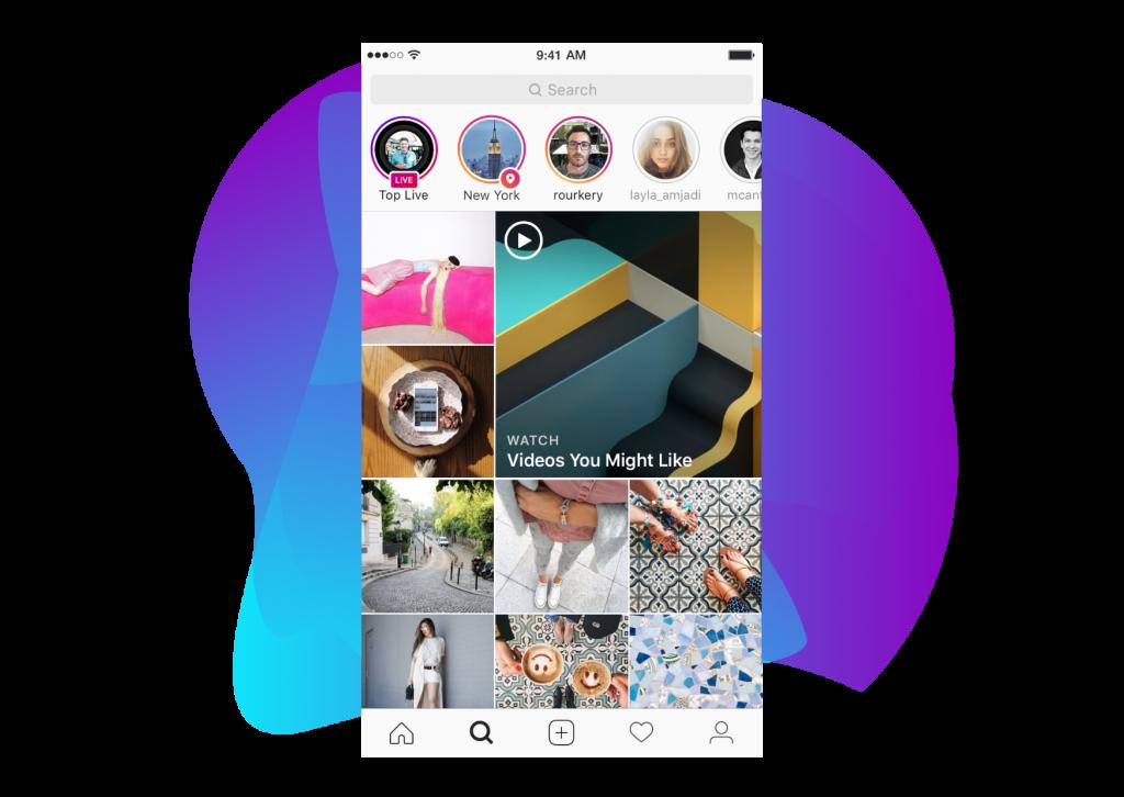 zakładka eksploruj instagram